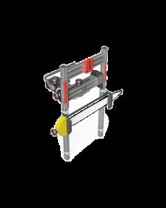 Lignatool zaaggeleiding SF650 voor kettingzagen, snijbreedte 650 mm bij 90°, horizontaal en verticaal zwenkbaar