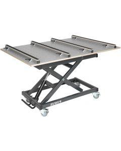 Ruwi Werktafel HPL verstelbaar gatenwerkblad met lades en opbergruimte