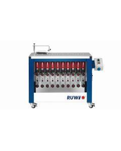 RUWI Type L basis 10 Onderfreesmachine met 10 aandrijving, tafel 1070 x 500 met transportwielen